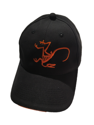 black-orange hat