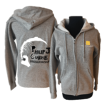 Grey Hoodie Front and Back