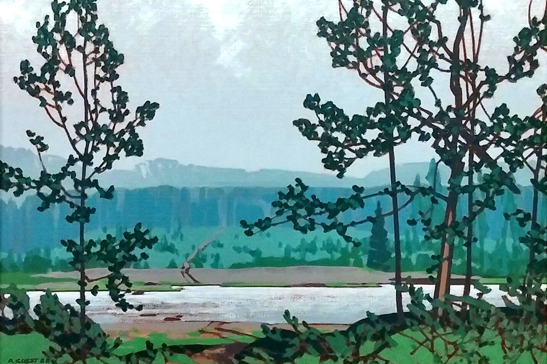 Our Newest Special Exhibit Fossil Country On Canvas The Hinton Trail Paintings Of Robert Guest Will Open To Public Saturday January 13 2018