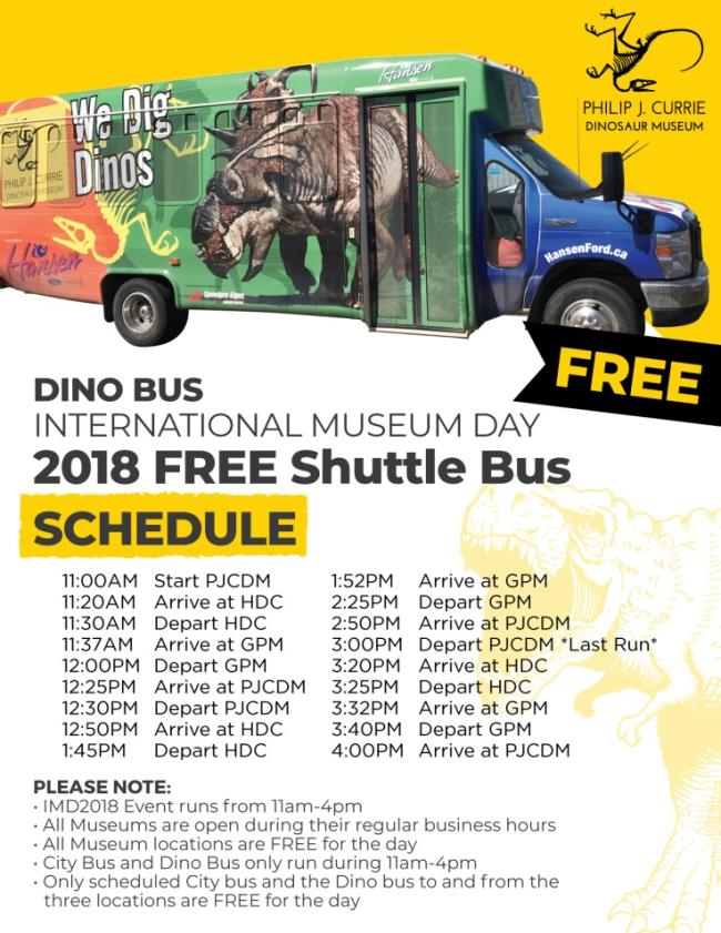 IMD 2018 Bus Schedule - beginning at the PJCDM